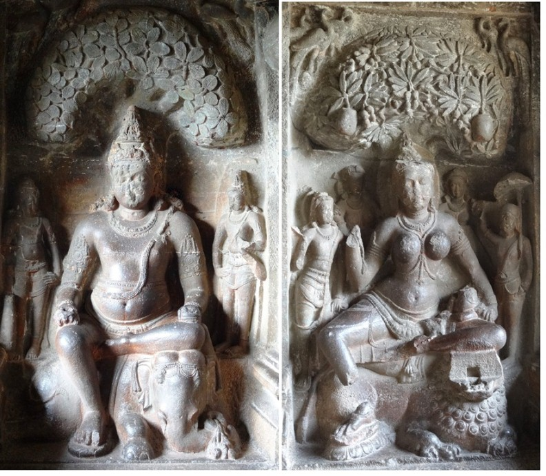 10 best sculptures of ancient India - 10 best sculptures of ancient India - Matanga Yaksha and Siddhaika Yakshini - Ellora caves