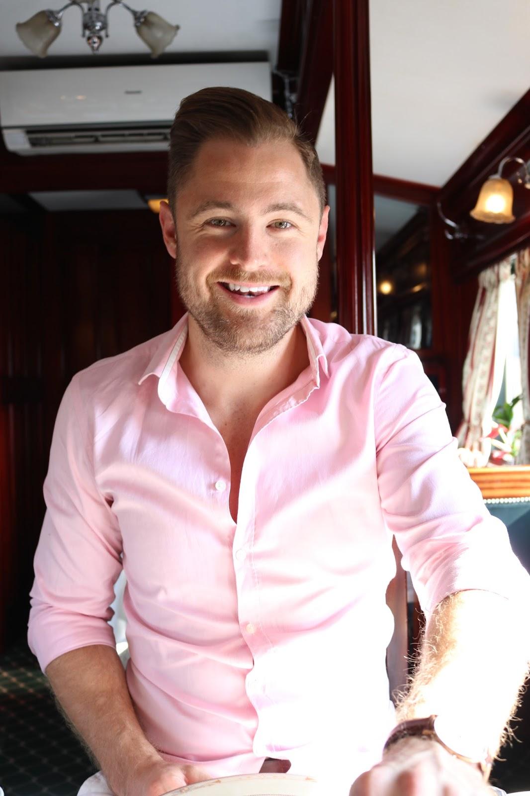 Ben Heath at breakfast aboard Rovos Rail