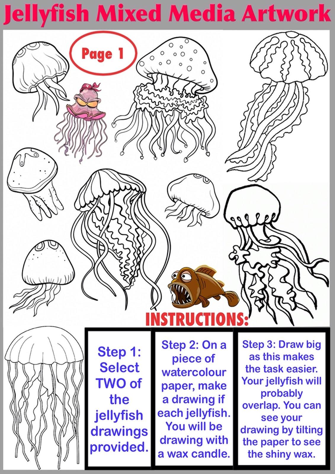 Wax Resist Jellyfish