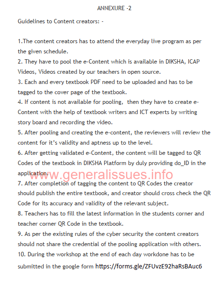 Guidelines to content creators