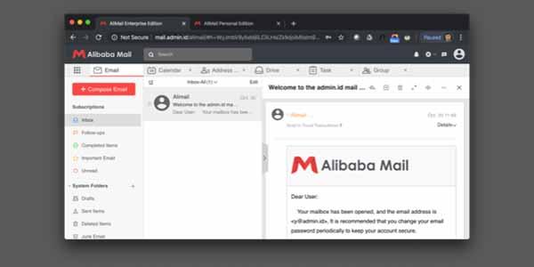 webmail Alibaba Mail Rumahweb