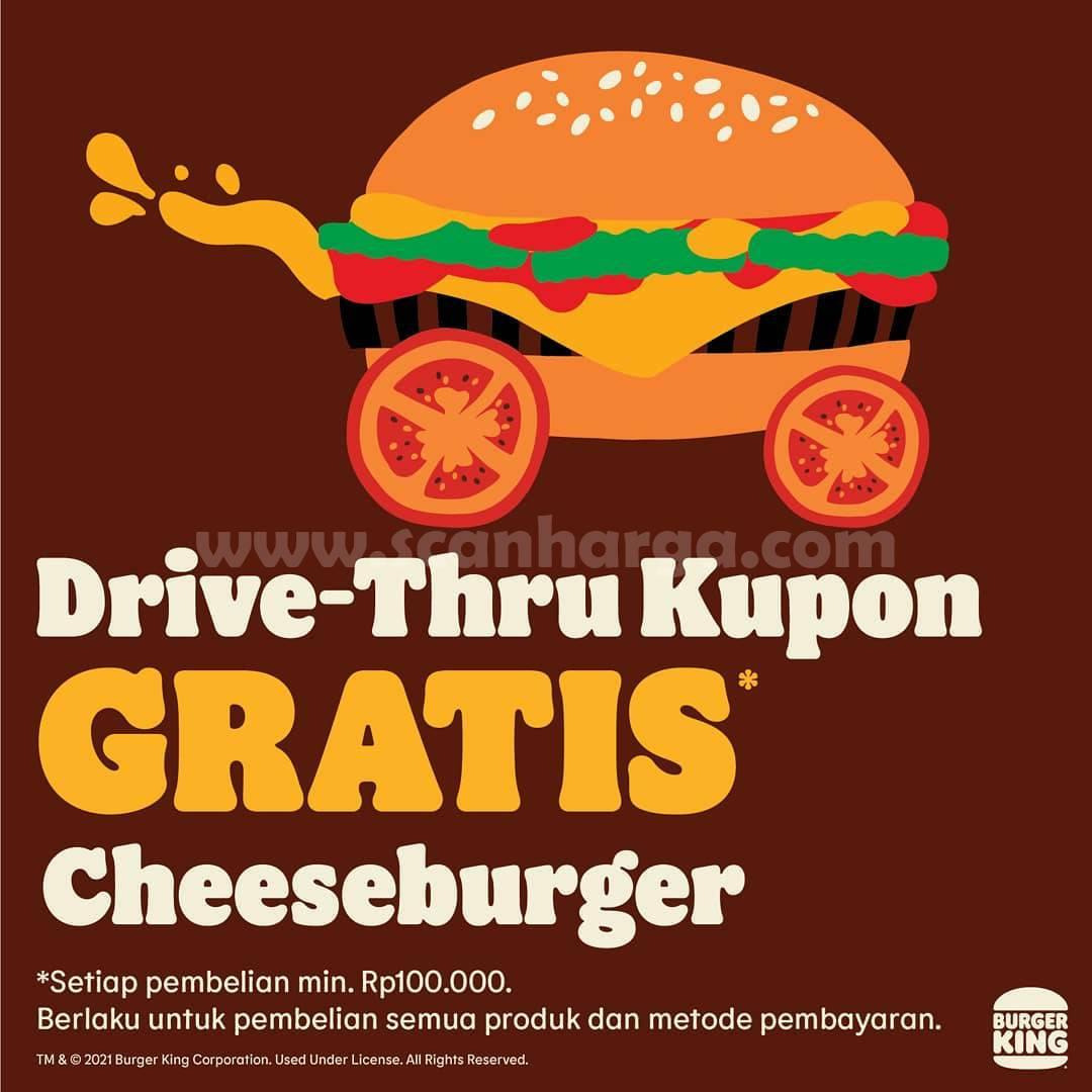 Burger King Promo Drive Thru Kupon Gratis Cheeseburger