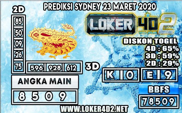 PREDIKSI TOGEL SYDNEY LOKER 4D2 23 MARET 2020