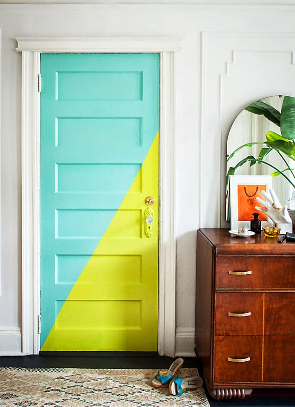 10 id es originales pour peindre son int rieur blog d co for Porte 2 couleurs