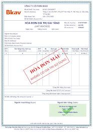 Mẫu hóa đơn miễn phí BKAV ehoadon