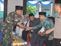 Dandim 0204/DS Hadiri Tepung Tawar Pemulangan Jamaah Haji Deliserdang