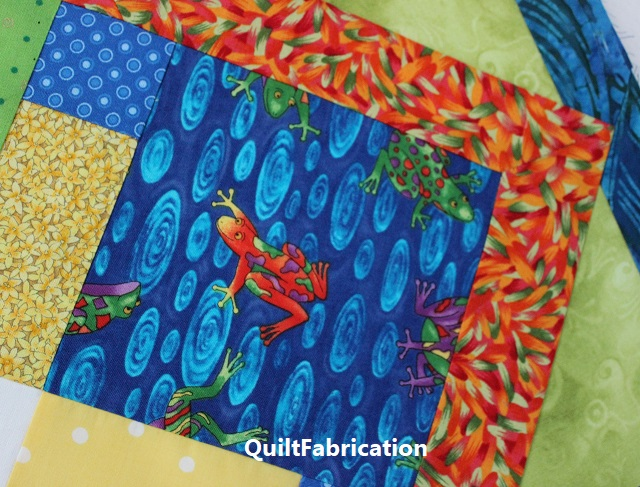 colorful frog is the inspiration for fabric color choices