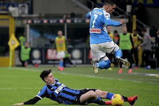 Inter 0-1 Napoli: Fabian curler stuns Nerazzurri as Inter on verge of Coppa exit