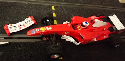 Alerón delantero del Ferrari F2004 Nº2 C3 Scalextric Tecnitoys
