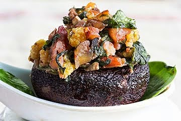 Spinach & Pecan Stuffed Mushrooms