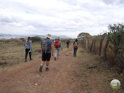 Un gran equipo de excursionistas en Cerro Viejo