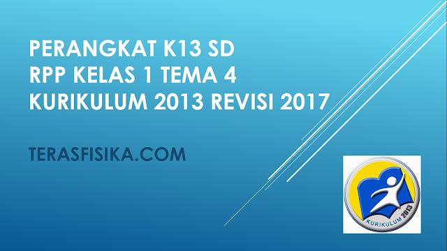 RPP SD Kelas 1 Tema 4 Kurikulum 2013 Revisi 2017