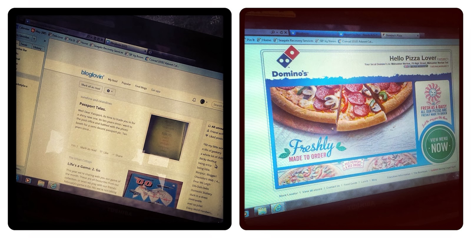 Bloglovin feed - Ordering a Domino's Pizza