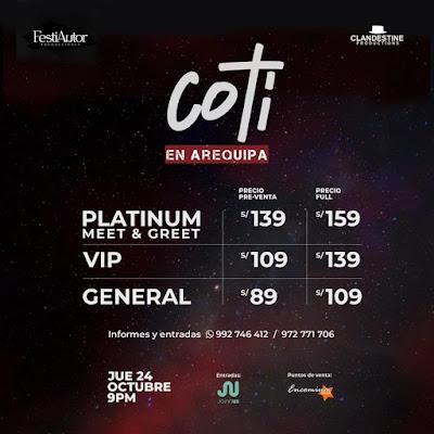 Coti en Arequipa 2019