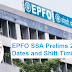 EPFO SSA Prelims 2019 Exam Dates and Shift Timings - Check Here