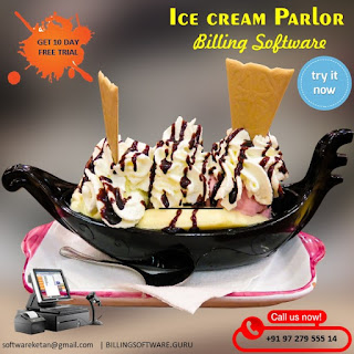 Ice Cream Parlor Touch POS Software with Accounting and Inventory Management