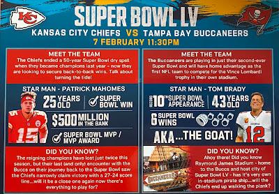 Morrisons Super Bowl LV Card