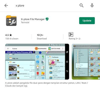 Aplikasi - Aplikasi X-plore (Pengelola Data)  untuk Android yang Bagus