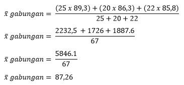 contoh soal rata rata gabungan