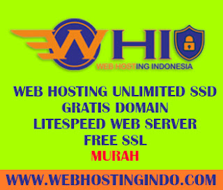 Web Hosting Murah Unlimited SSD Gratis Domain