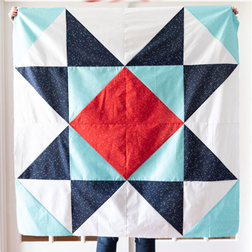 Giant Star Baby Quilt - Free Pattern
