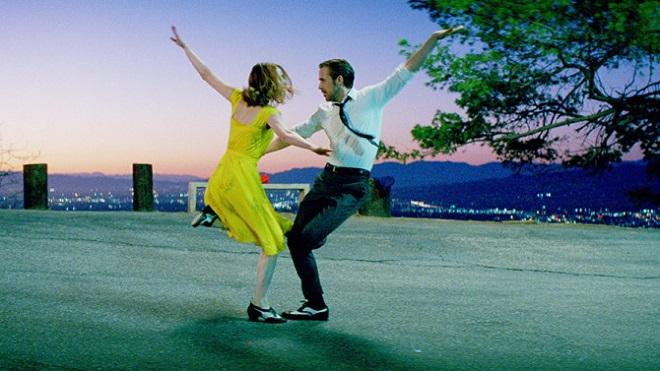 La La Land Szenenbild mit Emma Stone und Ryan Gosling
