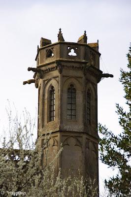 Particolare di una delle torri della Basilica di Carcassonne