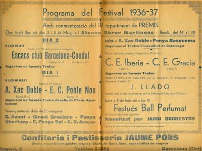 Página interior del Boletín del Xac Doble 1936/37