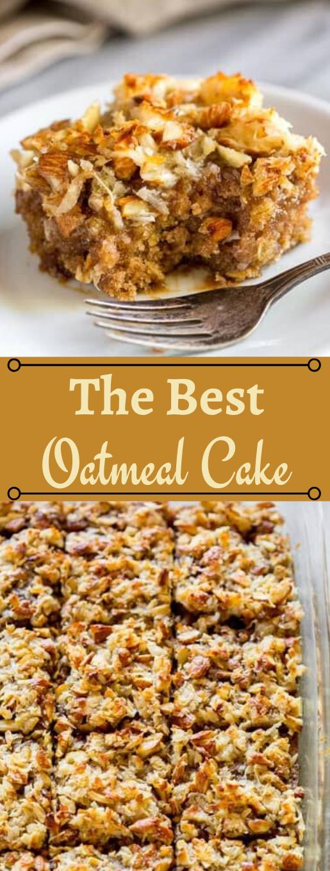 OATMEAL CAKE #desserts #cakes #oatmeal #recipes #bars