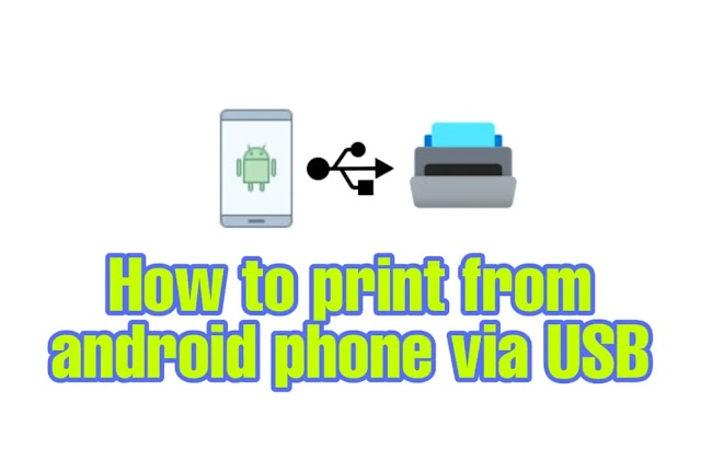 How to print from android phone via USB (With pictures)?