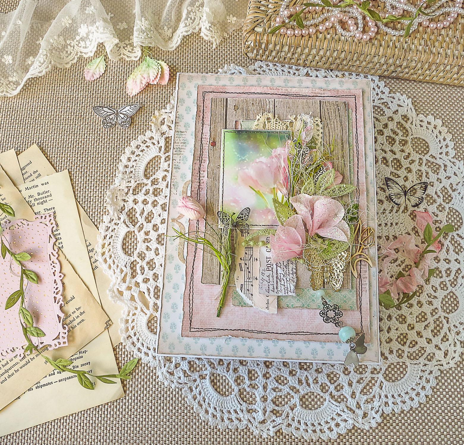 Шкатулка, тюльпаны, скрапбукинг шкатулка, шкатулка для мелочей, шкатулка с ящичками, цветы ручной работы, цветы из ткани, бабочки, весна, весенний подарок, скринька з шухлядками, скринька в подарунок, scrpbooking box, box with drawers, tulips
