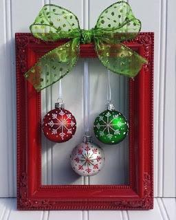 Molduras decoradas para o Natal sem gastar muito