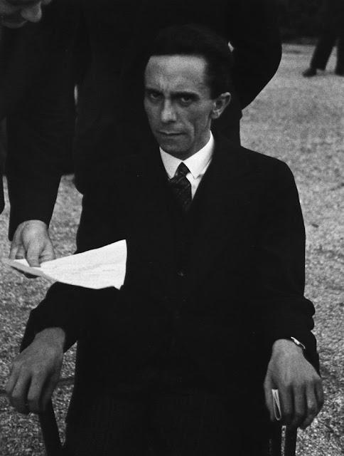 Eyes of Hate: Joseph Goebbels Scowling at Photographer ... Joseph Goebbels