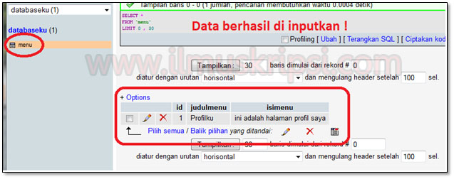 Membuat Insert Data PHP Ke Database MySQL