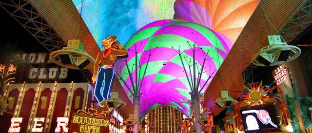 LED ceiling of Fremont Street Experience