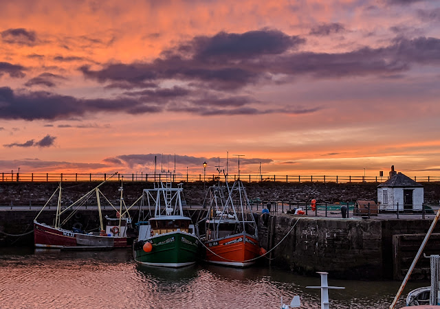 Photo of Maryport Harbour at sunset