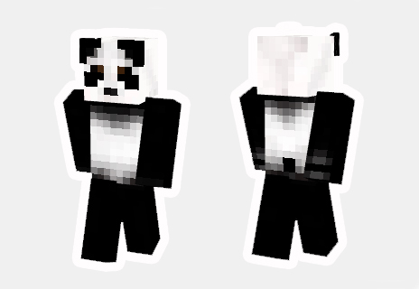 skin de panda minecraft