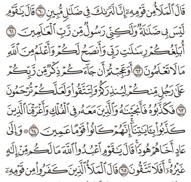 Tafsir Surat Al-A'raf Ayat 61, 62, 63, 64, 65
