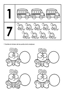 matemáticas preescolar para imprimir