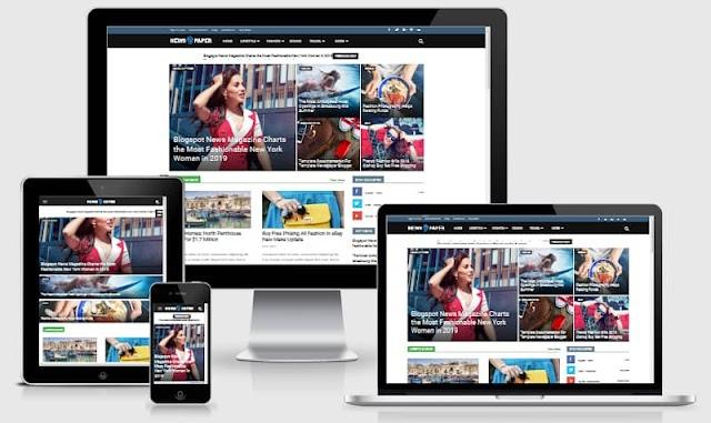 Newspaper 9 Premium Blogger Template Free Download