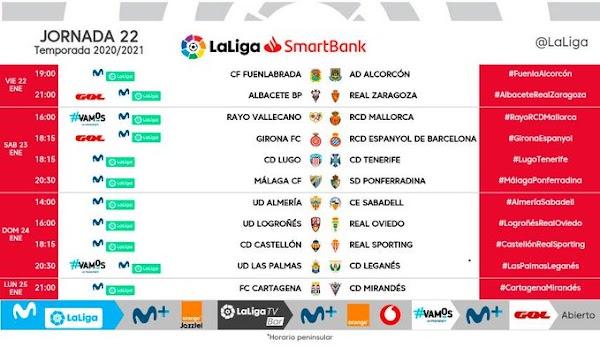 El Málaga - Ponferradina, el sábado 23 de enero a las 20:30 horas
