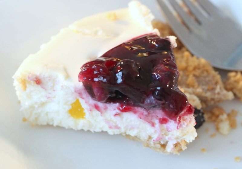 Review Marks & Spencer sunken blueberry and lemon cheesecake a slice