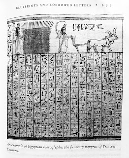 Page 233. An example of Egyptian hieroglyphs: the funerary papyrus of Princess Entiu-ny.