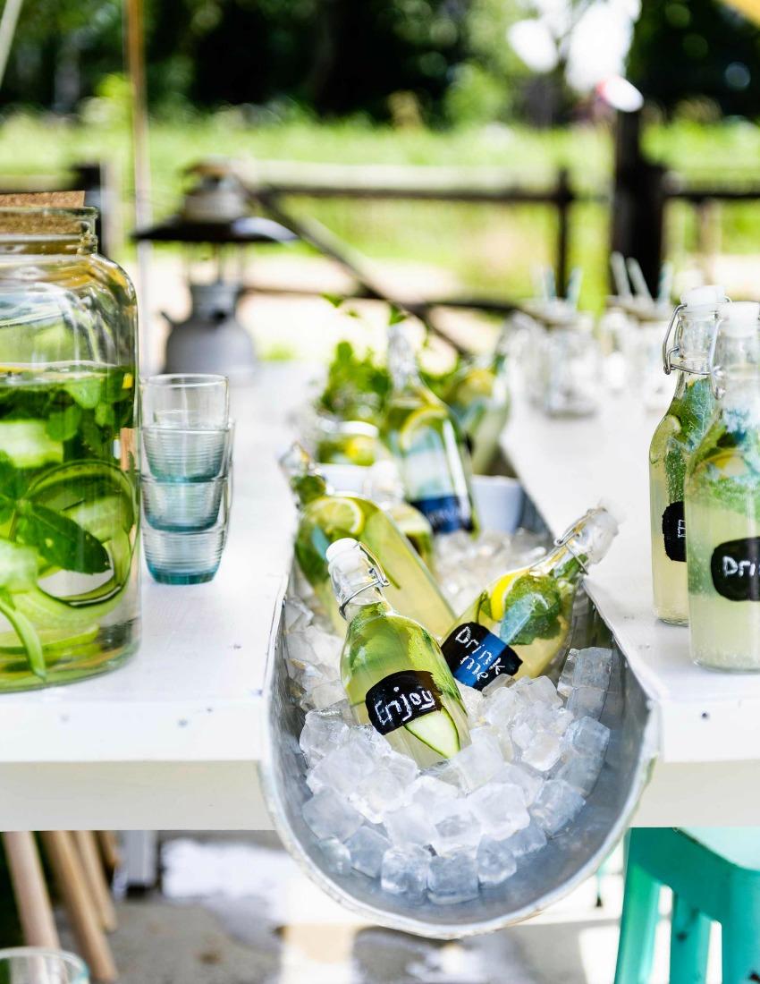 diy etiquetas botellas fiesta verano