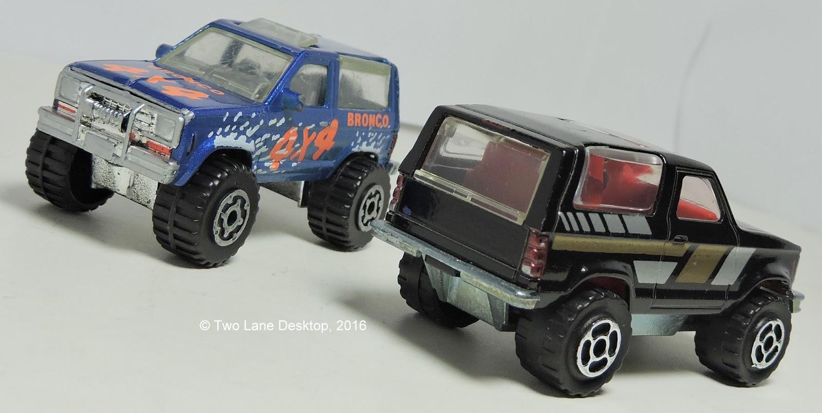 Majorette And Matchbox Ford Bronco Ii Two Lane Desktop Smaller Based On The Ranger Platform Was Precursor To Explorer Heres Different Versions Of In Diecast