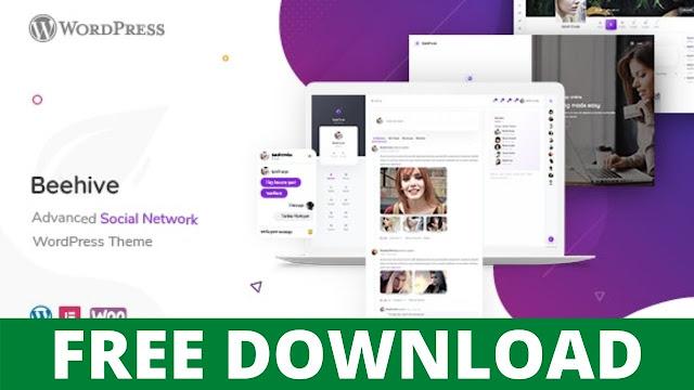 DOWNLOAD BEEHIVE V1.2.7 – SOCIAL NETWORK WORDPRESS THEME