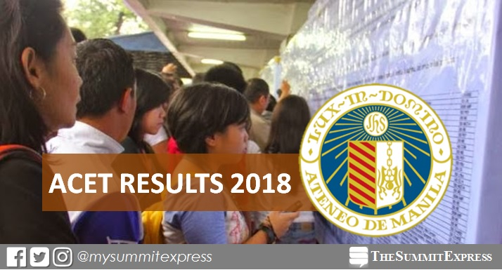 ACET Results for AY 2018-2019 are out online