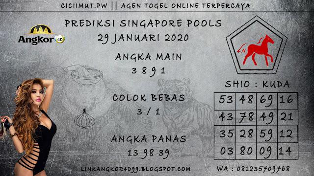 PREDIKSI SINGAPORE POOLS 29 JANUARI 2020
