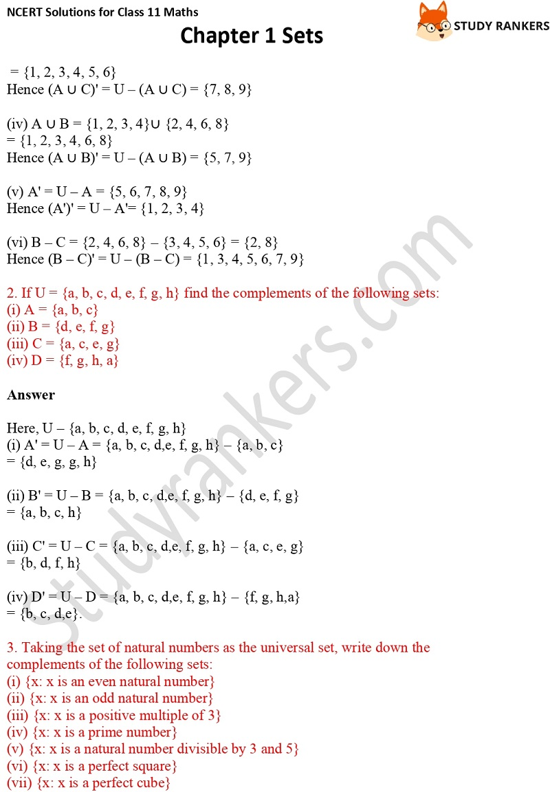 NCERT Solutions for Class 11 Maths Chapter 1 Sets 16