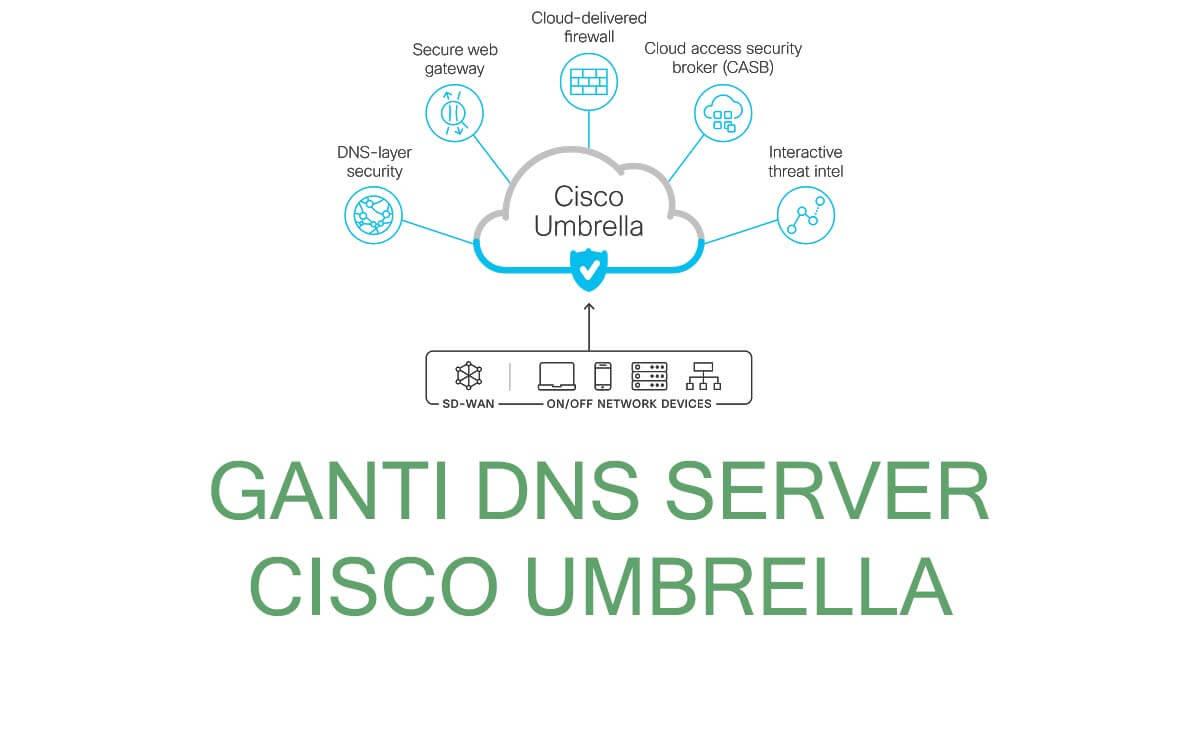Konfigurasi DNS ke Cisco Umbrella